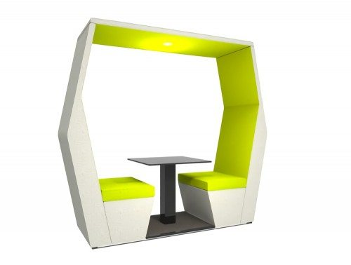 Bill 2 Seater Meeting Pod Without Wall in Fresh Green Colour