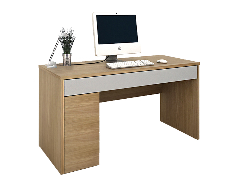 Colorado-Rectangular-Computer-Workstation-in-Oak-and-Silver