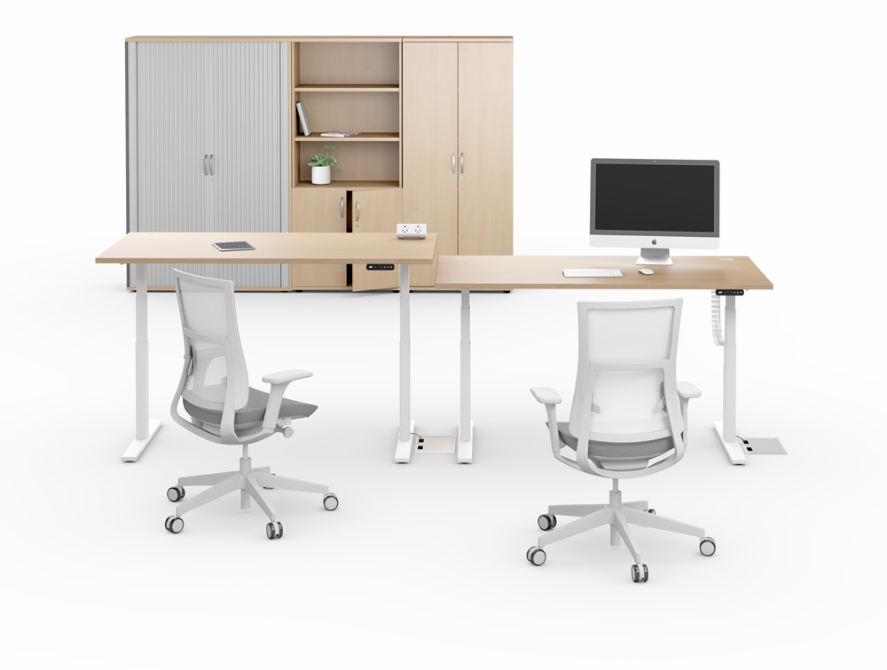 Leap-Electric-Sit-Stand-Wooden-Bench-Desks-with-Closet