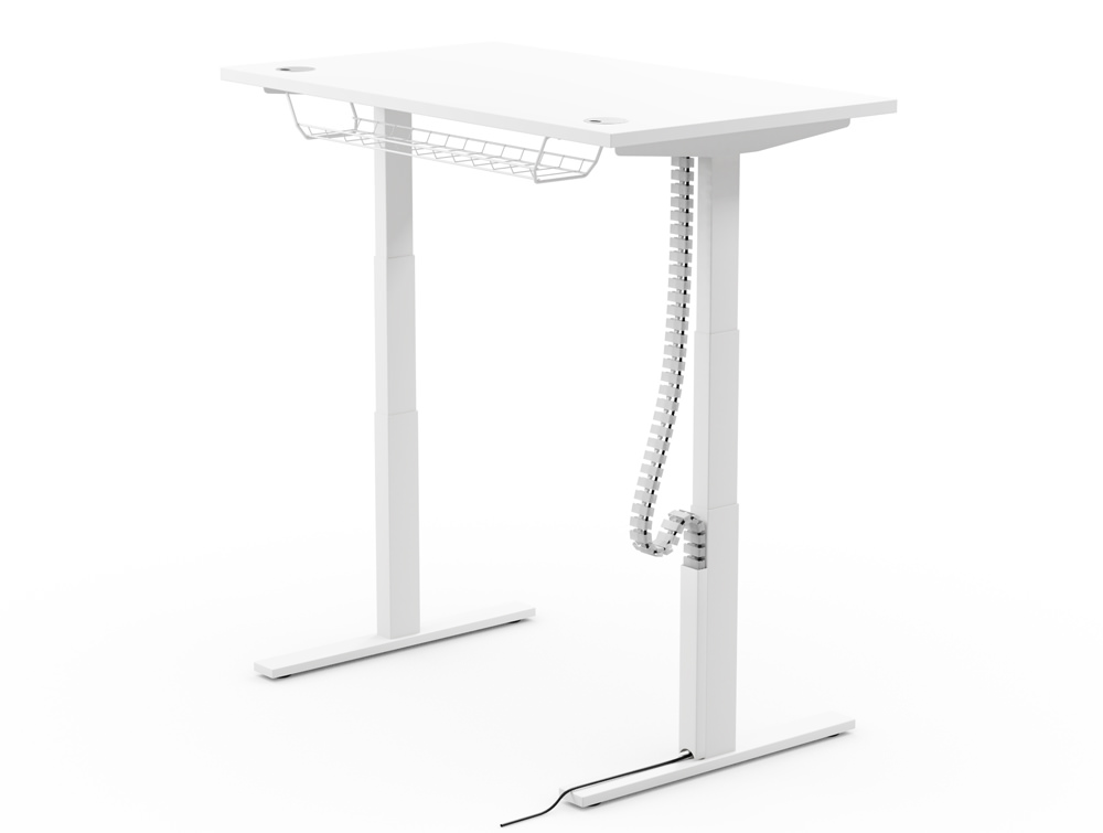 Leap-Electric-Sit-Stand-Desk-Accessory-Magnetic-cable-Protector-White