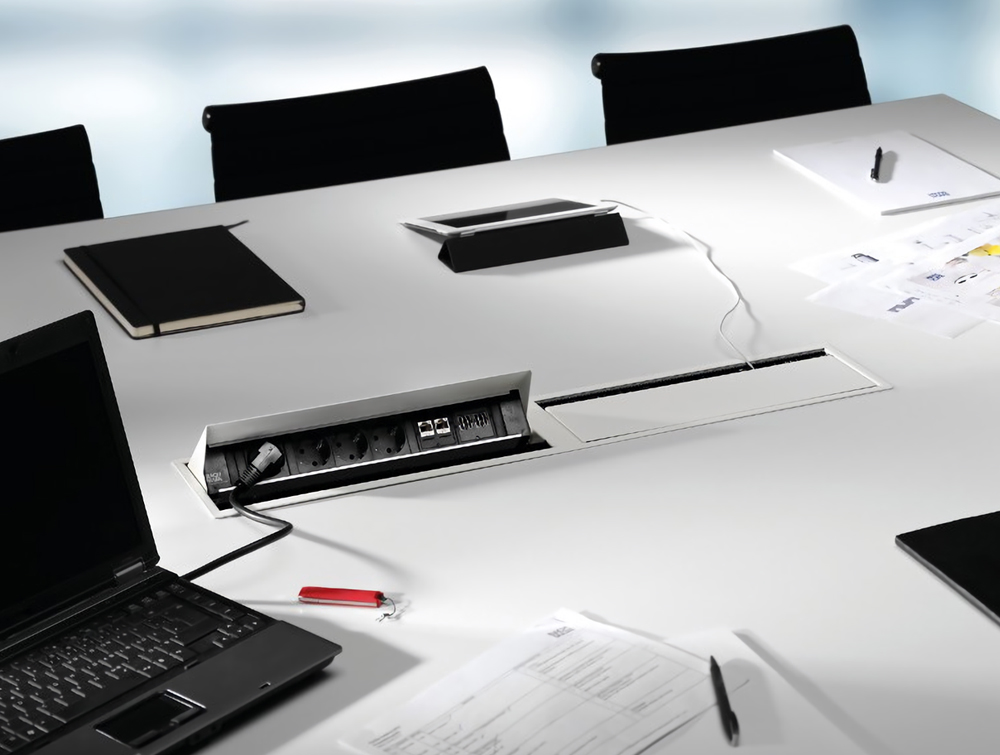 Bachmann-Coni-Duo-Large-White-Cover-Mounted-in-Meeting-Room-Desk