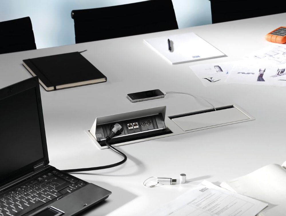 Bachmann-Coni-Duo-Small-White-Cover-Mounted-in-Meeting-Room-Desk
