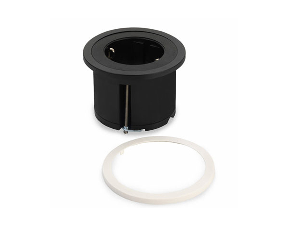 Bachmann-Pix-Round-Power-Socket-Black-Colour-with-White-Ring-Feature-Image