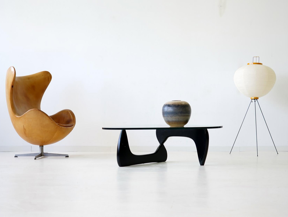 Elite Noguchi Style Glass Coffee Table