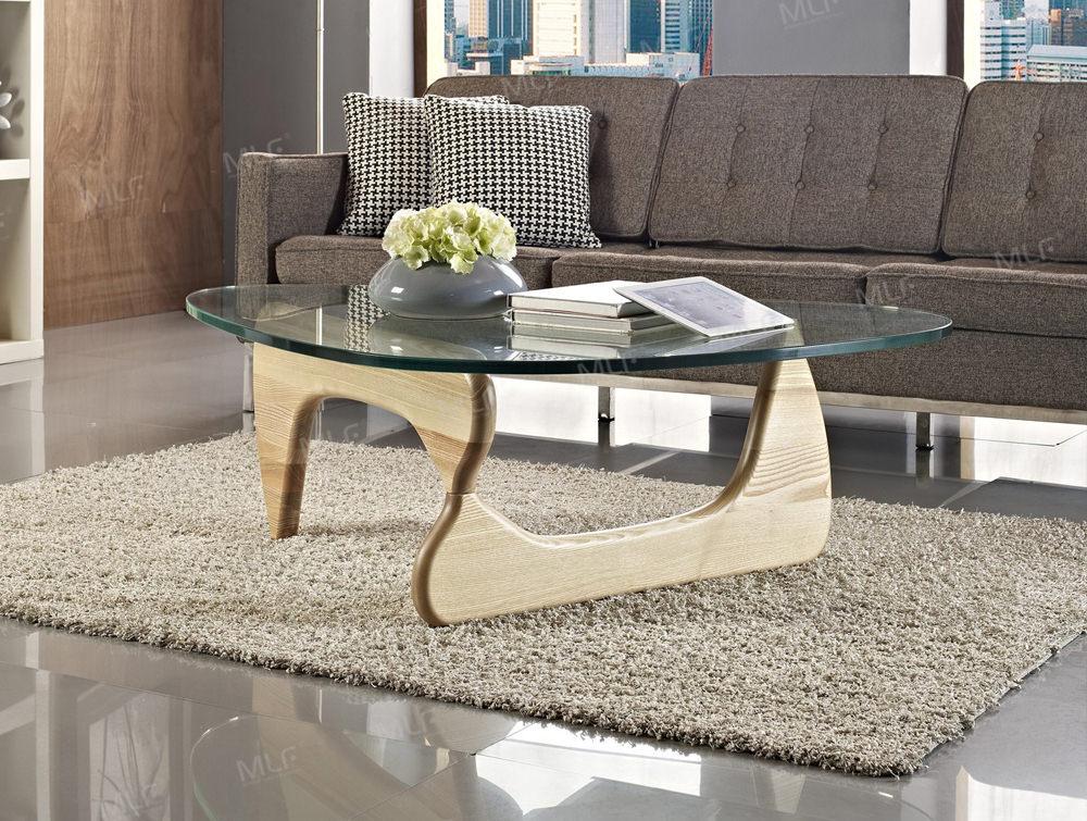 elite noguchi style glass coffee table. Black Bedroom Furniture Sets. Home Design Ideas