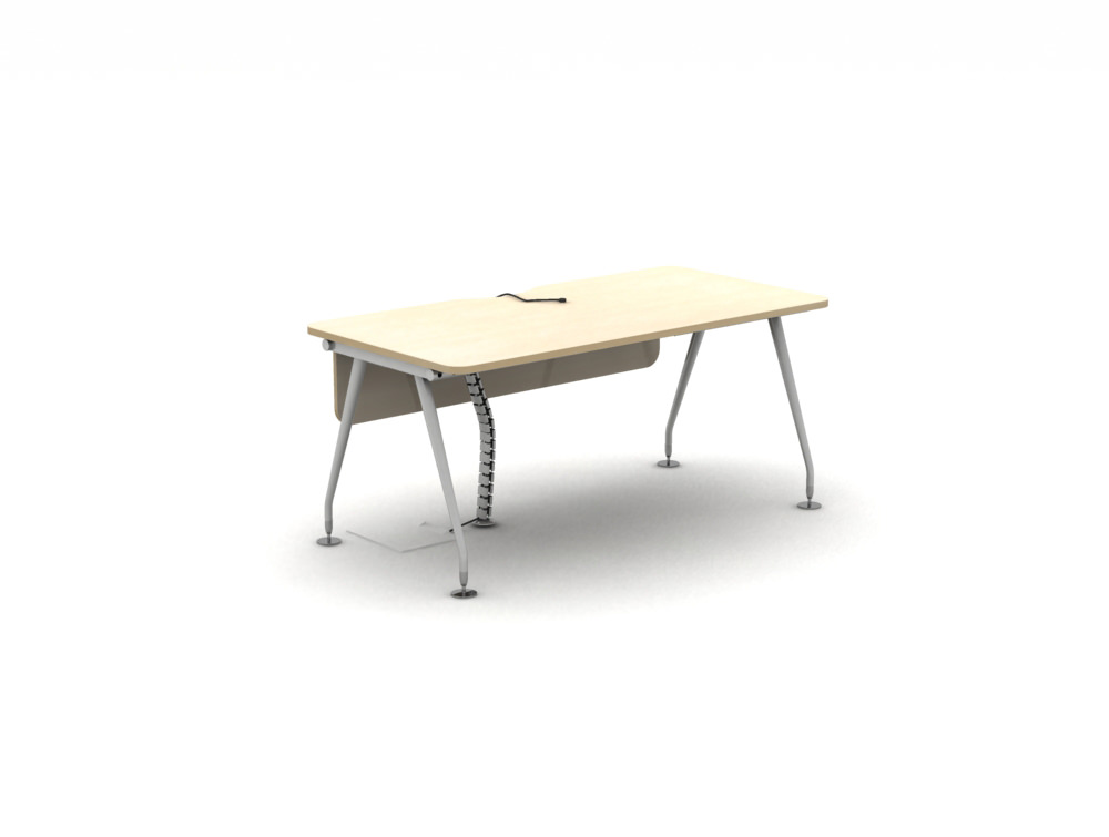 Vega-Solo-Bench-Desk-with-Telescopic-Tray