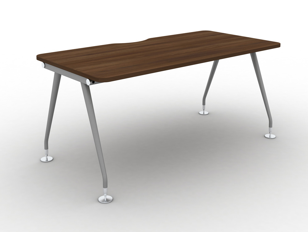 Vega-Solo-Bench-Desk-with-Walnut-Finish-and-Steel-Legs