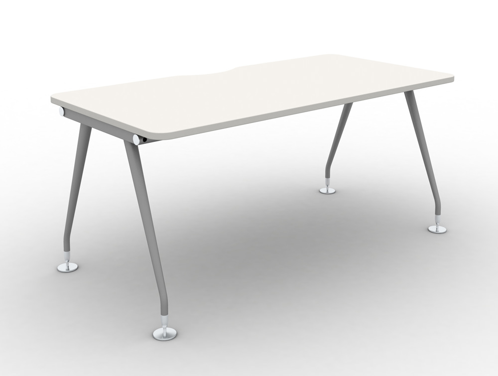 Vega-Solo-Bench-Desk-with-White-Finish-and-Steel-legs