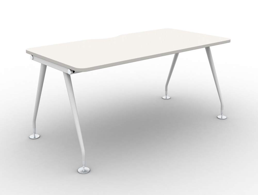 Vega-Solo-Bench-Desk-with-White-Finsh-and-White-Legs
