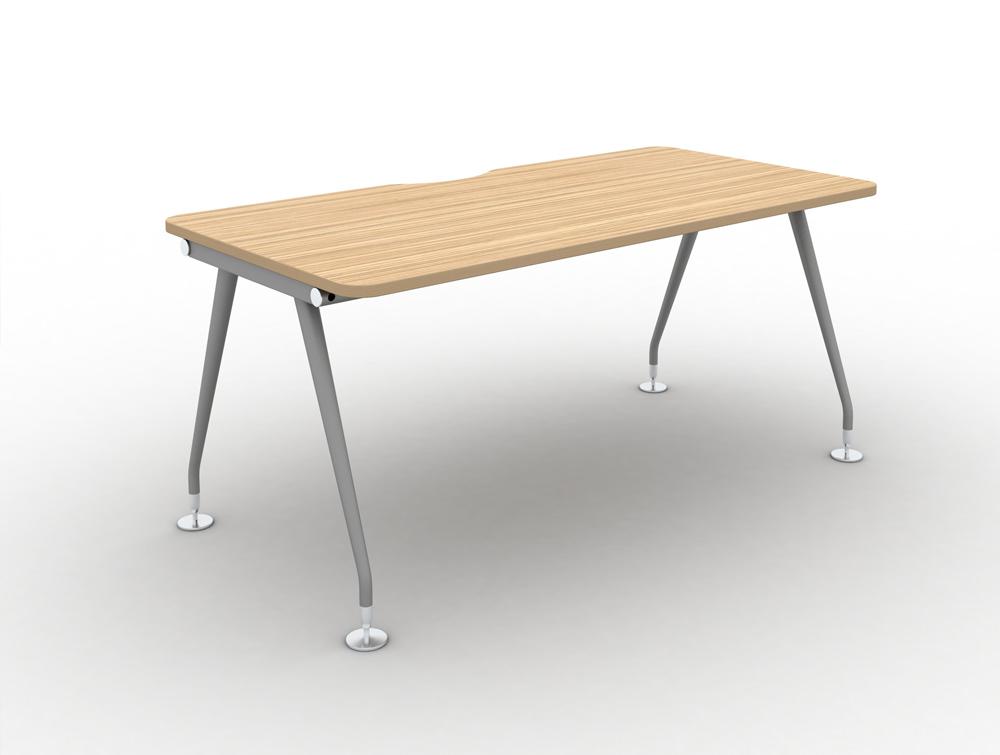Vega-Solo-Bench-Desk-with-Zebrano-Finish-and-sILVER-lEGS