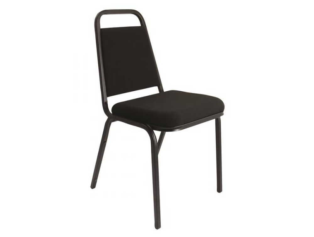 Trexus-Banqueting-Stacking-Chair-with-Black-Frame-and-Black-Fabric