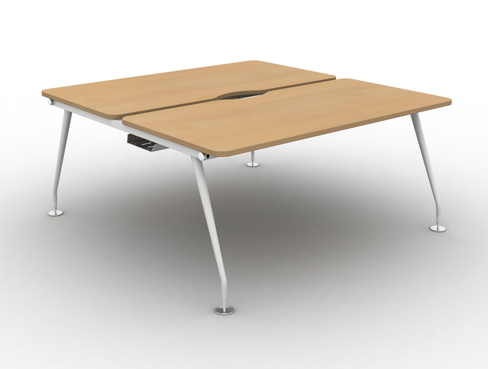 Vega-Bench-Desking-Pod-of-2-with-Beech-Finish-and-White-Legs
