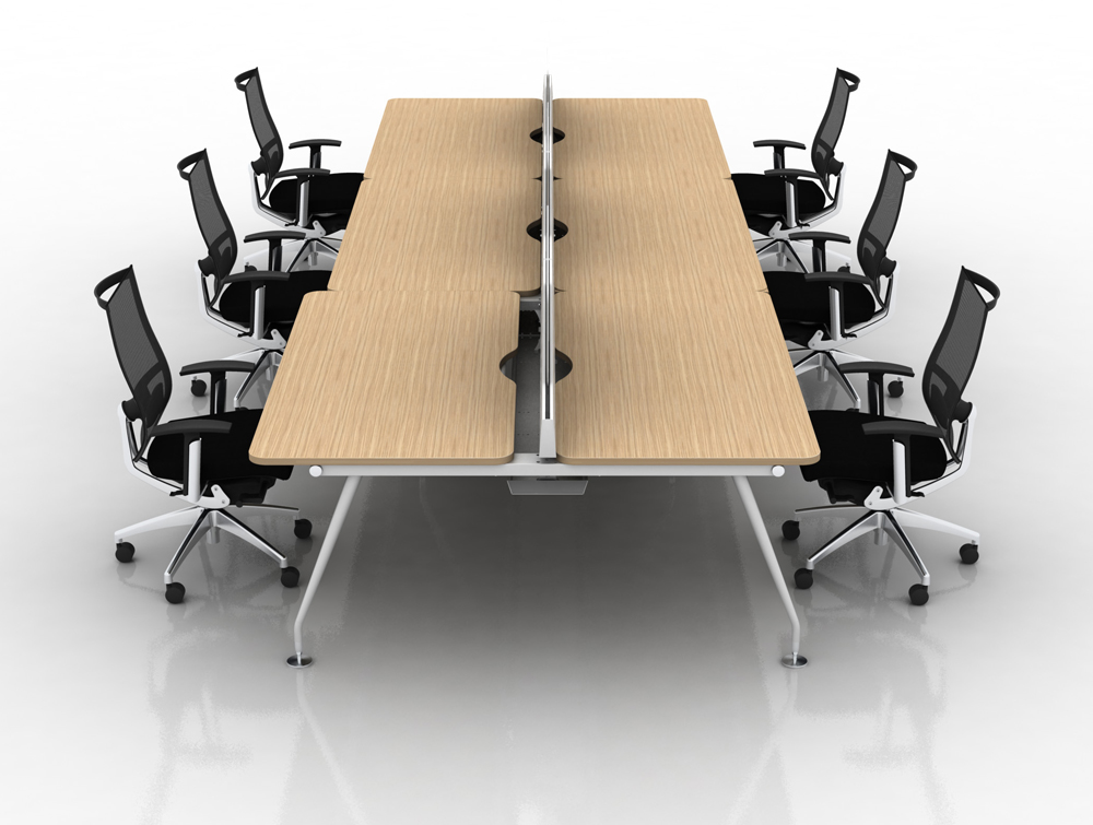Vega Bench Desking of 6 with Chairs