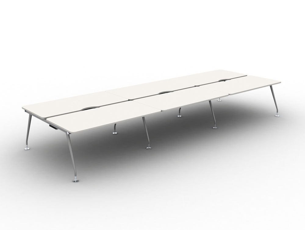 Vega-Bench-Desking-of-6-with-White-Finish-and-Steel-Legs