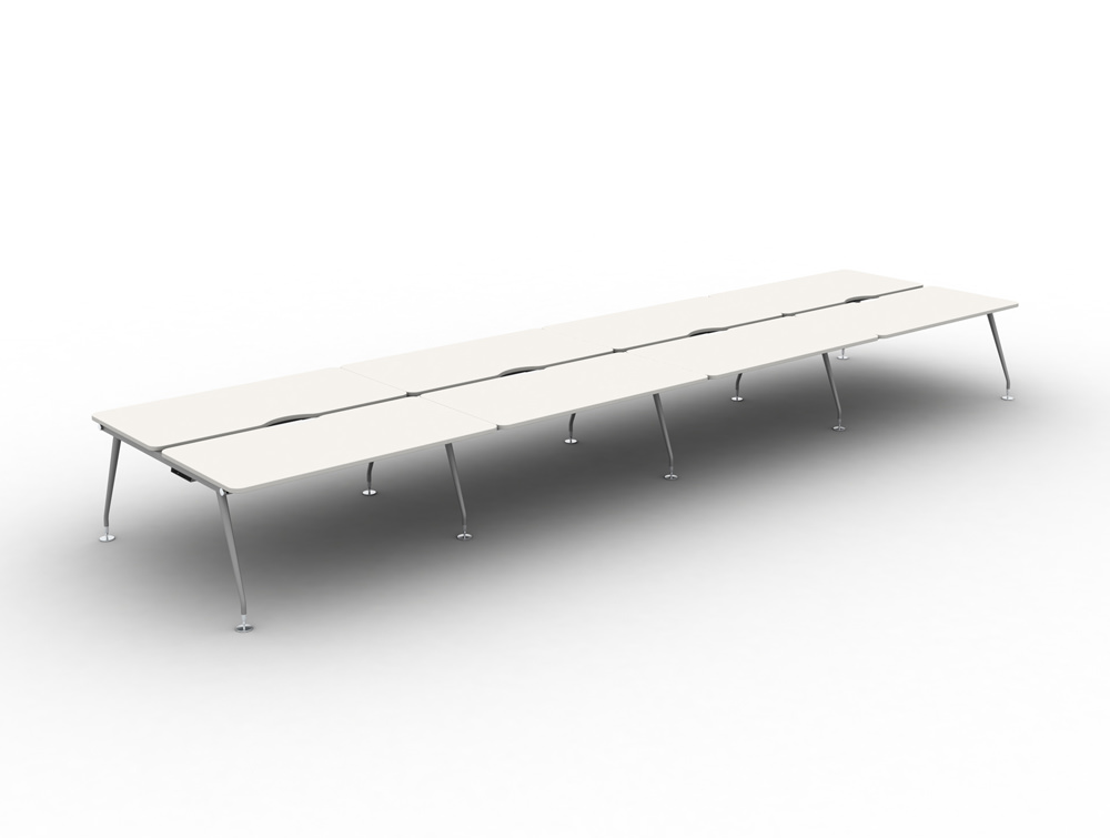 Vega-Bench-Desking-of-8-with-White-Finish-and-Silver-Legs