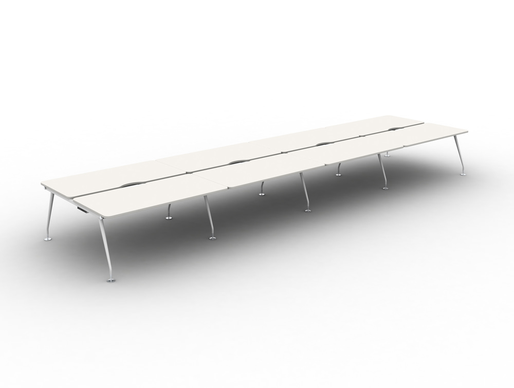 Vega-Bench-Desking-of-8-with-White-Finish-and-White-Legs