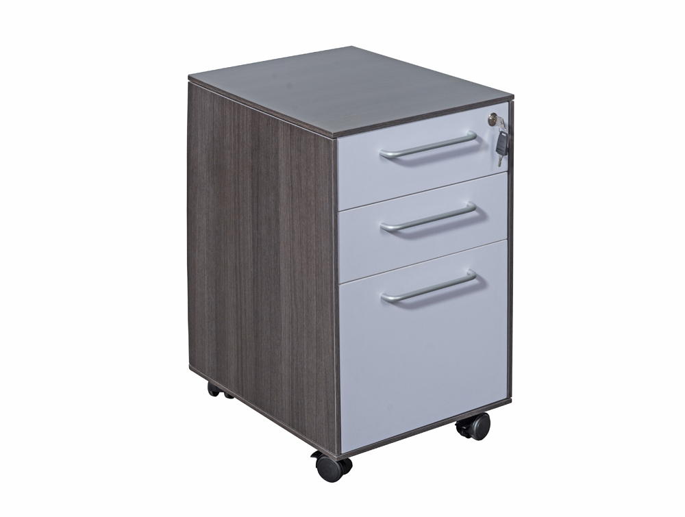 Nero Executive 3-Drawer Pedestal