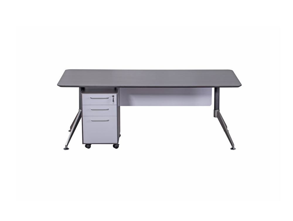 Nero Executive Desk with Modesty Panel and Storage