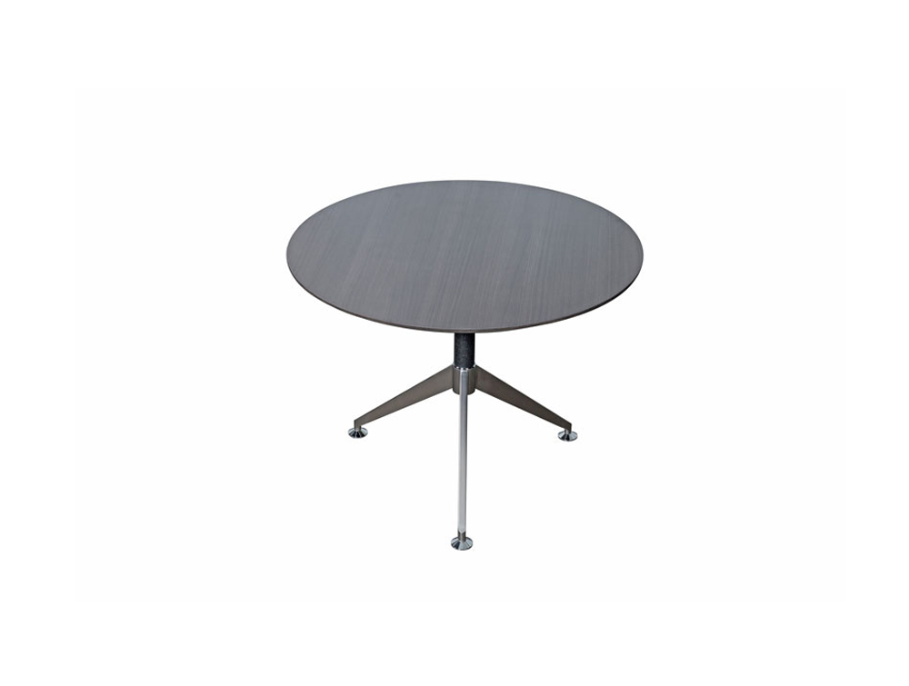Nero-Executive-Round-Table-with-Metal-Legs