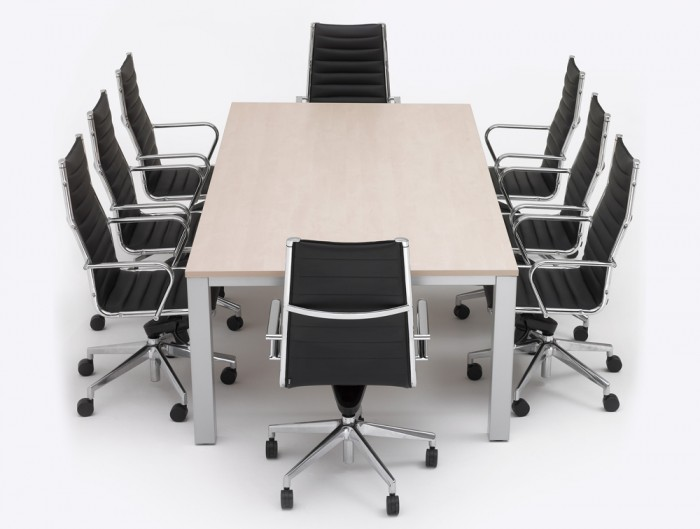 Infinity-Conference-Table-with-Chairs-and-Maple-Finish
