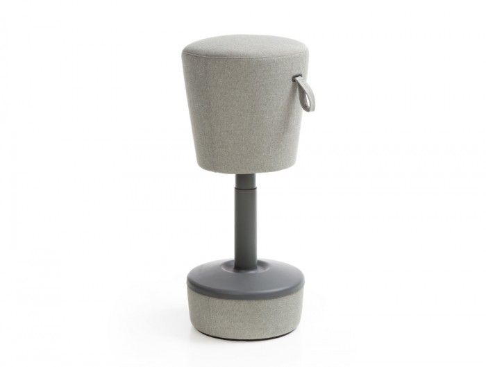 Mickey Pouffe Movement Chair with Grey Fabric Base in Grey Colour Positon 1