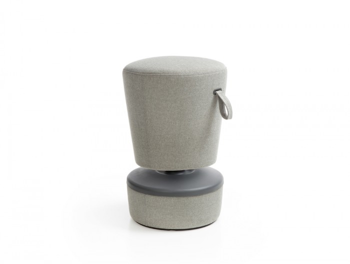 Mickey Pouffe Movement Chair with Grey Fabric Base in Grey Colour Positon 3