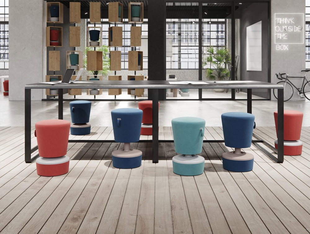 Mickey-Pouffe-Movement-Chair-with-Fabric-Base-with-Meeting-Table