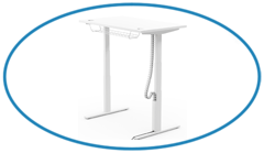 White Sit-Stand Leap Desk with Magnetic Cable Spine