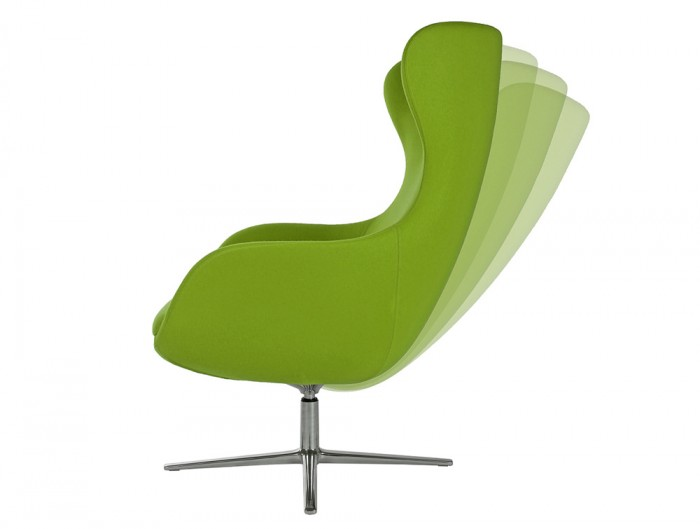 ILK Tilting Visitor 4 Star Swivel Green Chair with Footrest