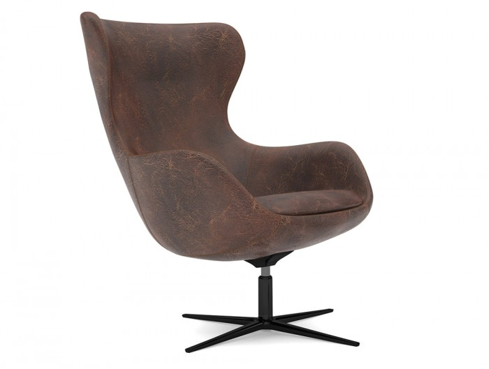 ILK Tilting Visitor 4 Star Swivel Leather Look Chair
