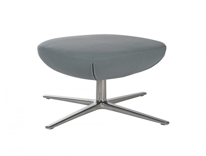 ILK Tilting Visitor Grey Footstool with Metal Legs