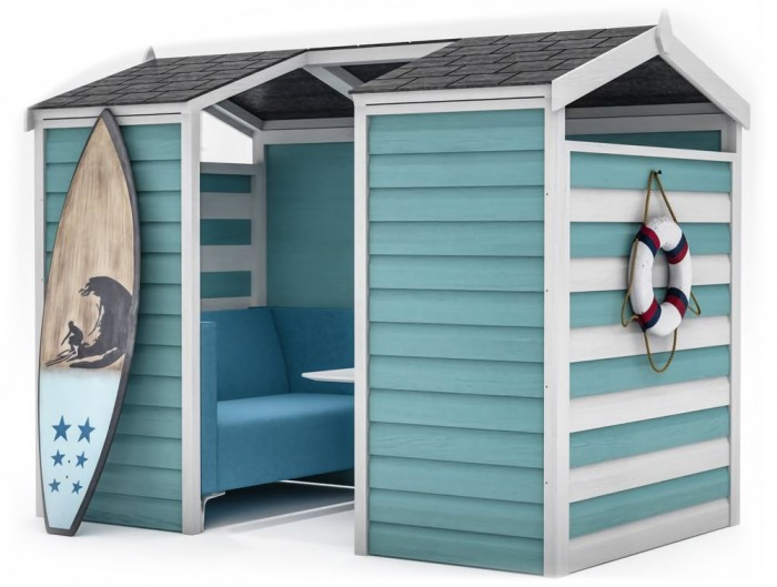 Huddle Shed Beach Themed Shed Meeting Pod