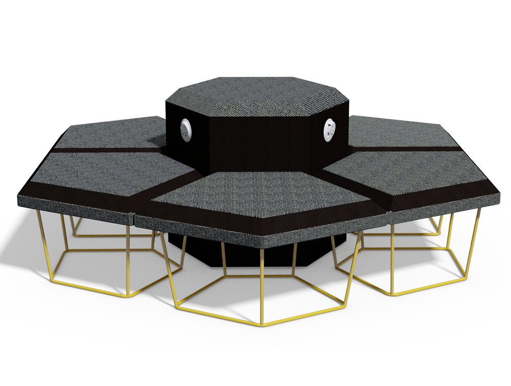 Nest Soft Seating with Power Hub