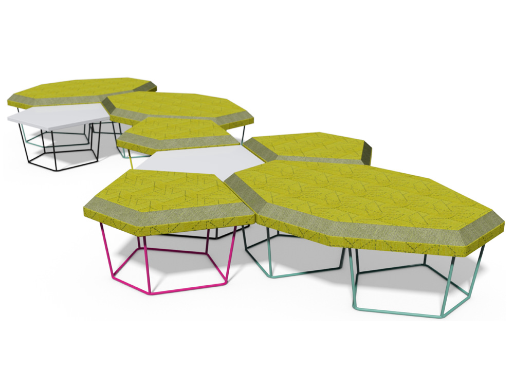 Nest Soft Seating with Power Hub and Graphical Pattern Finish