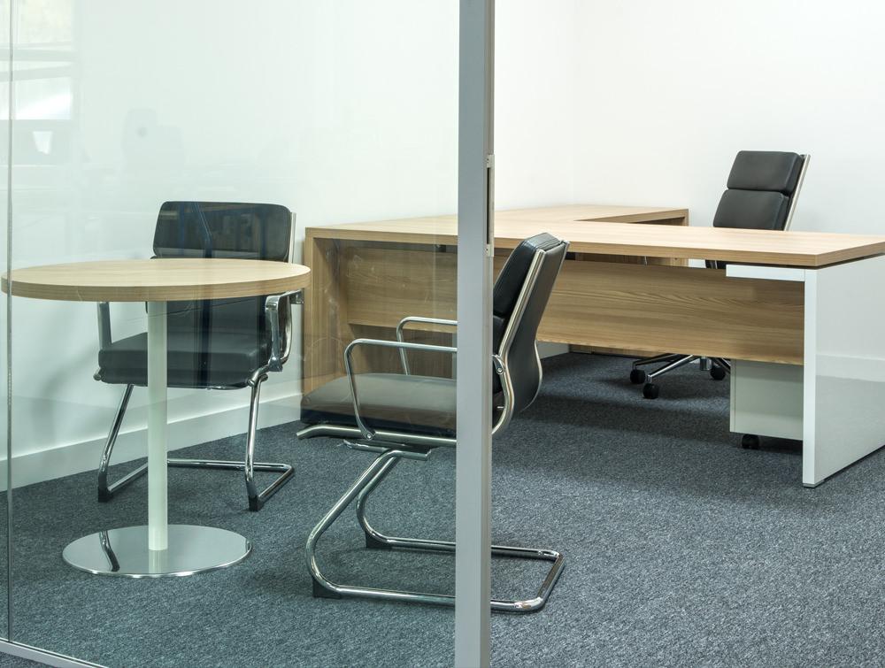 office desk in oak wooden finish