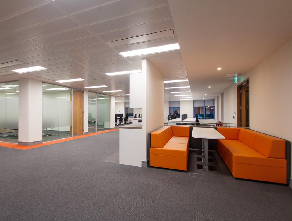 Apex office. Orange coaches
