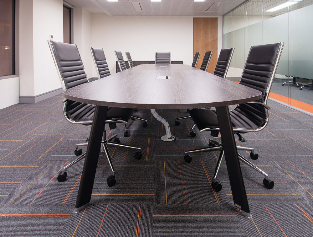 Apex office. Dark wooden finish boardroom table
