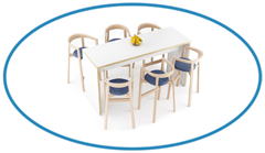 Cafe Furniture Top Image Modern Canteen High Top Table with Chairs