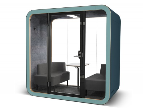 Framery Smart Office Acoustic Meeting Pod with Dual Blue External Frame
