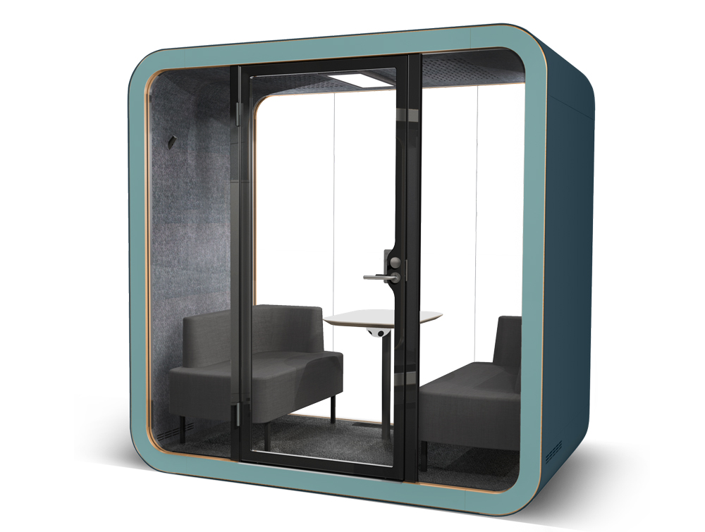 Office Pod Framery Smart Office Acoustic Meeting Pod with Dual Blue External Frame
