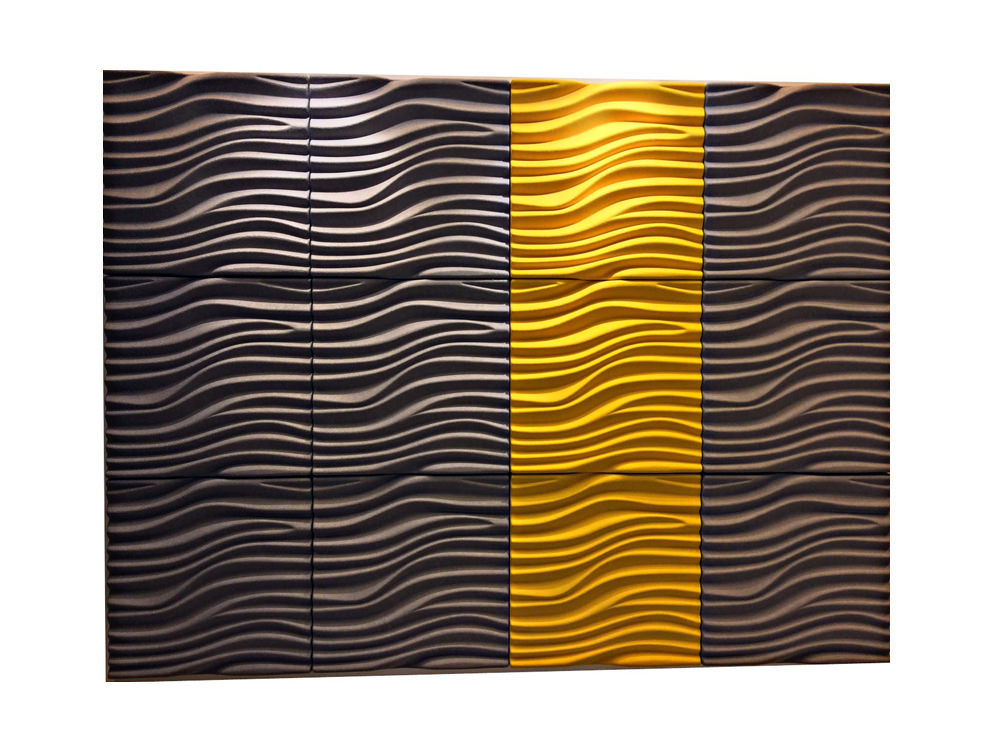 Soundtect Recycled Wave Wall Acoustic Panel