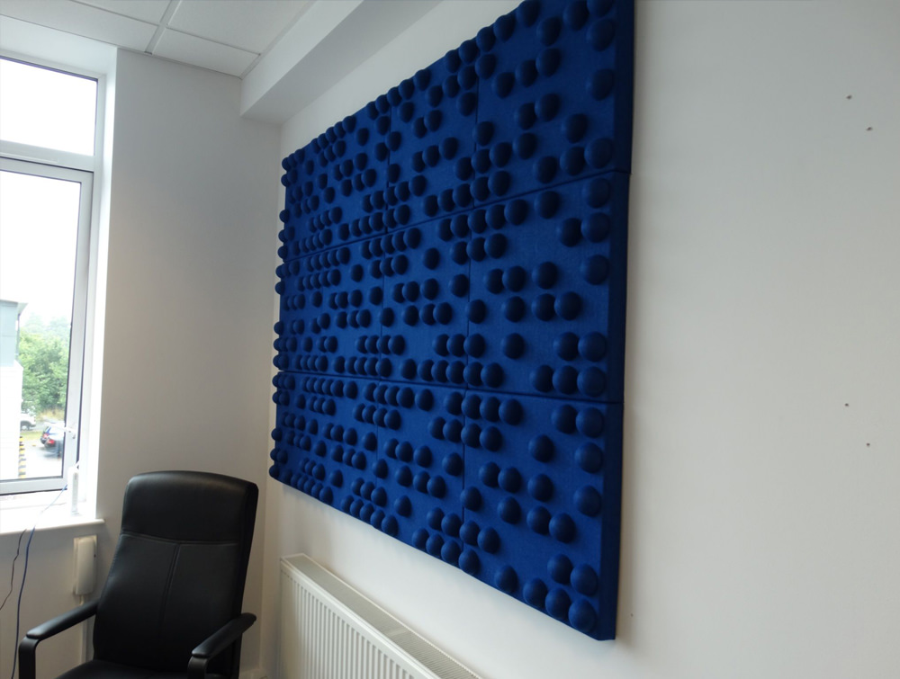 Soundtect Recycled Tetris Wall Acoustic Blue Wall Panel for Conference Room