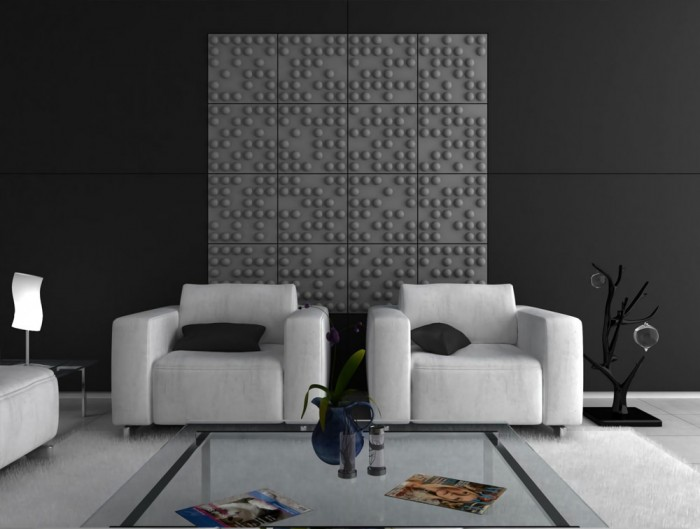 Sound tect Recycled Tetris Wall Acoustic Grey Wall Panel For Reception Areas