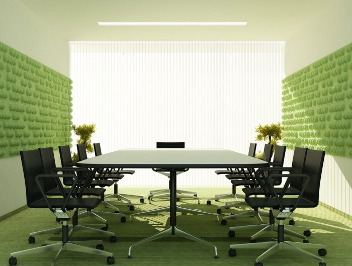 Soundtect Recycled Tetris Wall Acoustic Lime Green Wall Panel for Meeting Room