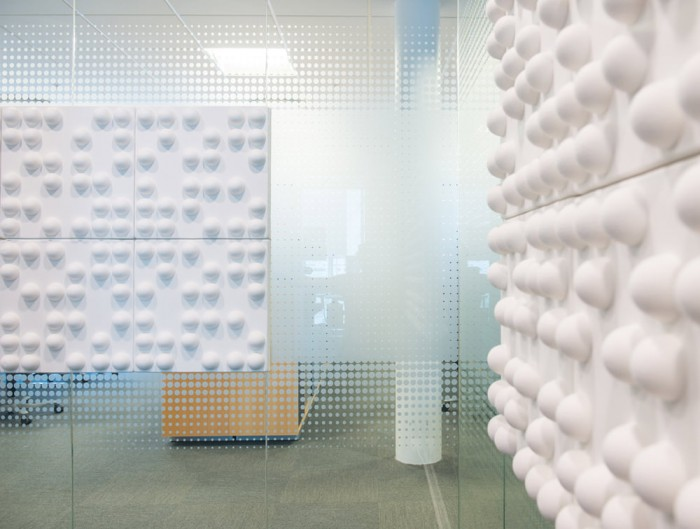 Soundtect Recycled Tetris Wall Acoustic White Wall Panel in Eco Friendly Finish