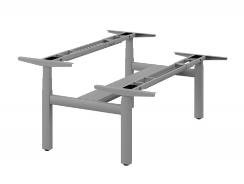 Leap-3-Stage-Electric-Double-Bench-Adjustable-Frame-Silver