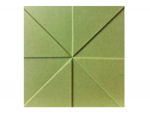 Soundtect Prism Recycled Acoustic Wall Panel in Lime Green