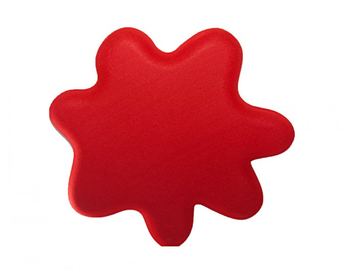 Soundtect Recycled Splat Acoustic Wall Panel Red