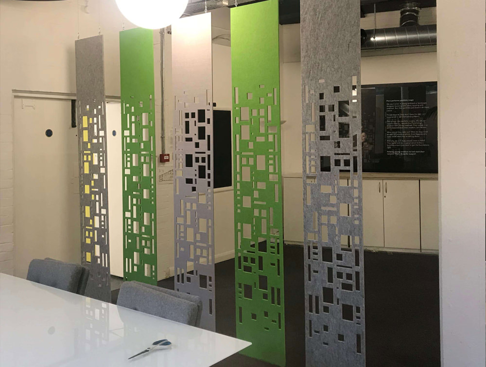 Soundtect Freestyle Recycled Acoustic Customisable Wall Panels Personalised with Eco Friendly Finish