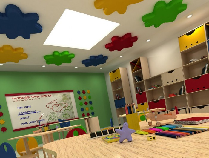 Soundtect Recycled Splat Acoustic Wall Panel Green for Schools and Classrooms